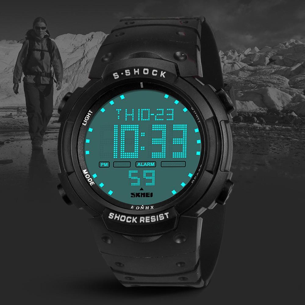 50cdc3c5d4a Compre Hombres Deportes Digital Impermeable Reloj Hombre Boy LCD Digital  Cronómetro Fecha Caucho Deporte Reloj De Pulsera Relogio Masculino Regalo A   34.81 ...