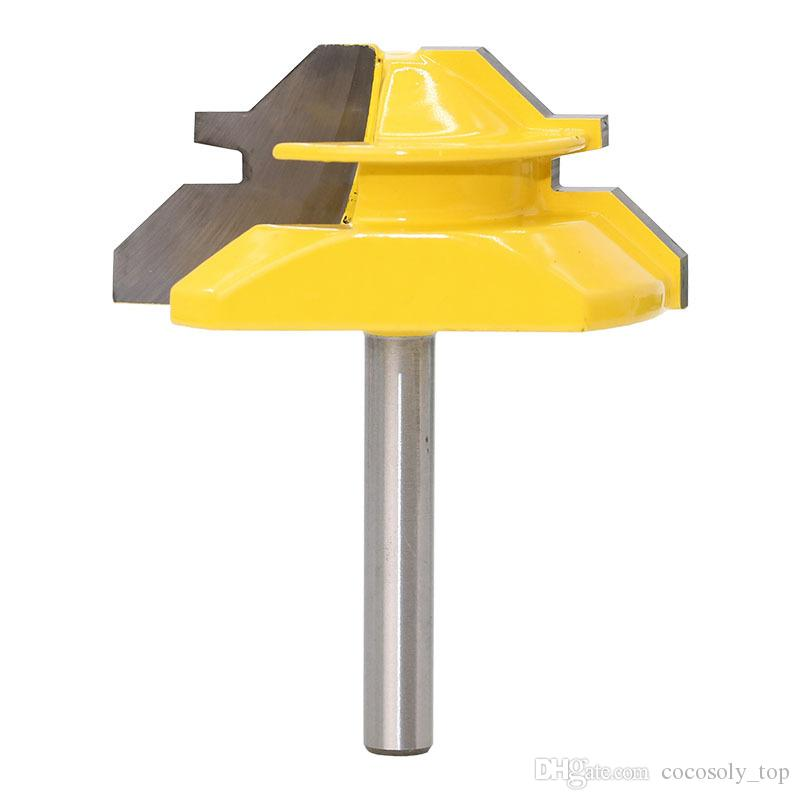 """DIY Woodworking Tools 45 Degree - Up to 3/4"""" Stock Lock Miter Router Bit - 1/4"""" Shank"""