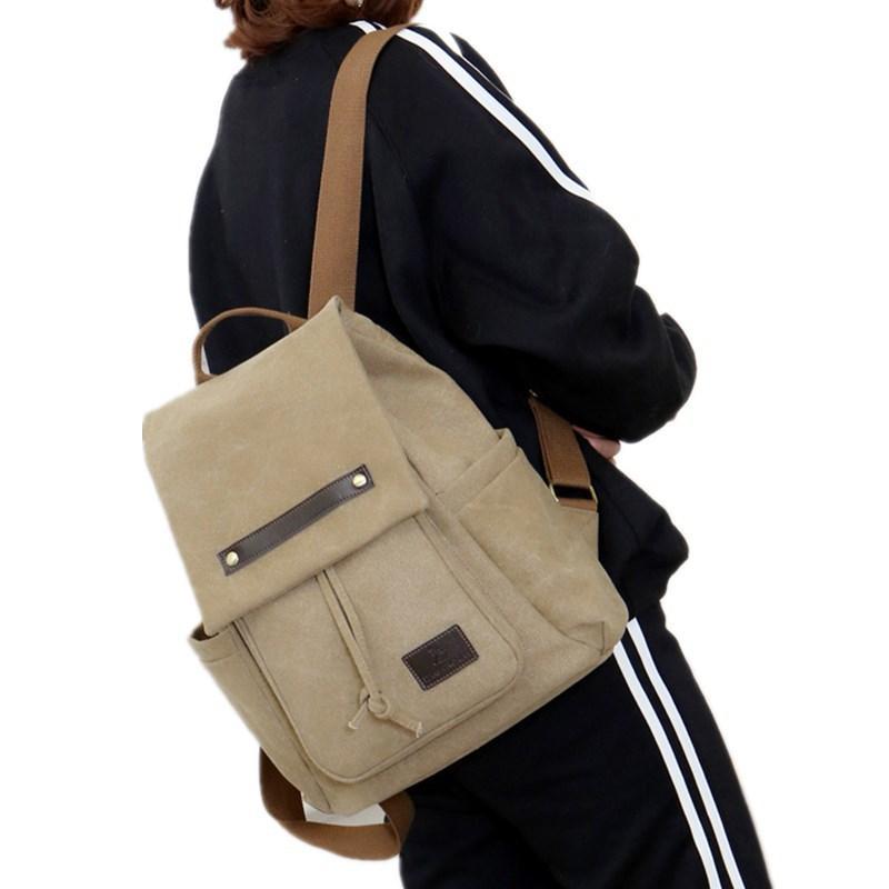 3b590f5c5940 High Capacity New Tide Girls Rucksack Canvas Backpacks For Women Bag  Knapsack Women S Fashion Backpack Khaki Black Brown Blue Rucksack Jansport  Backpacks ...