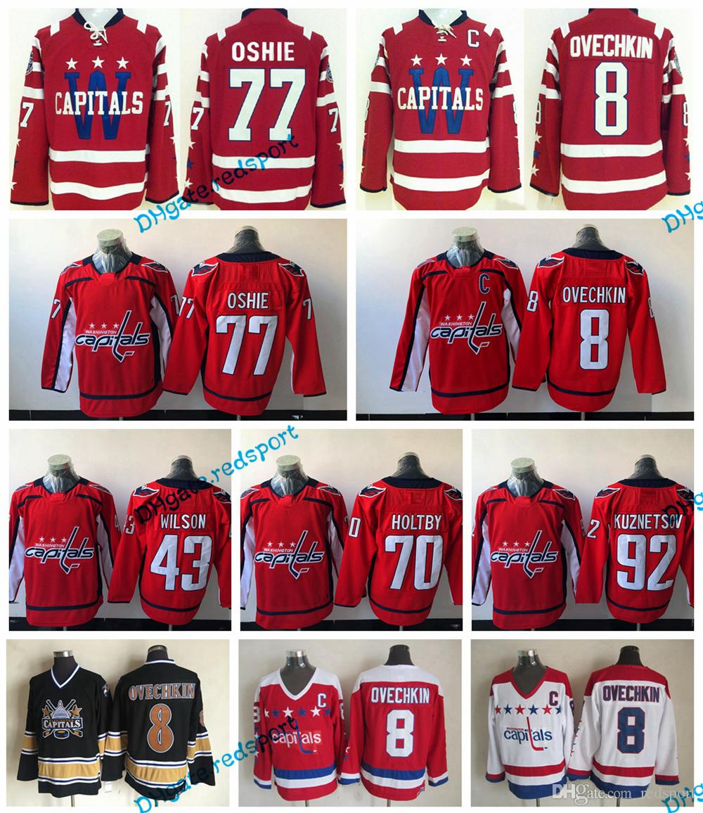 c6256933375 2019 2015 Washington Capitals Winter Classic Hockey Jerseys 8 Alex Ovechkin  77 TJ Oshie 92 Evgeny Kuznetsov 70 Braden Holtby Tom Wilson Jerseys From ...