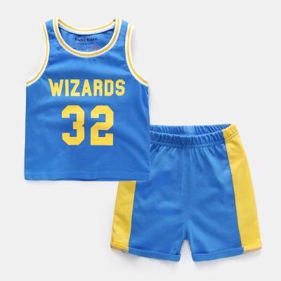 Hot Summer Baby Boy Clothes Sets Sports Childrens Clothing Boys Basketball Team Vest Shirt Shorts Suit Baby Boys Football Kits Fashion