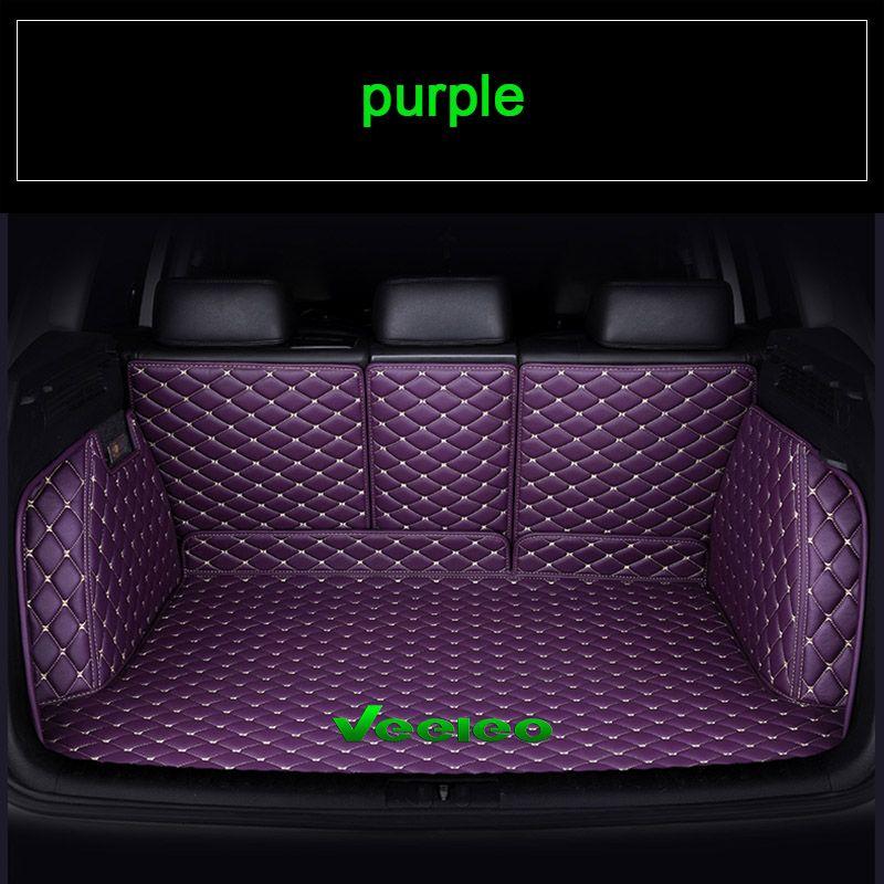 Veeleo 9 Renkler Ismarlama Araba Gövde Paspasları Tüm Araba için Suni Deri Arka Boot Mat