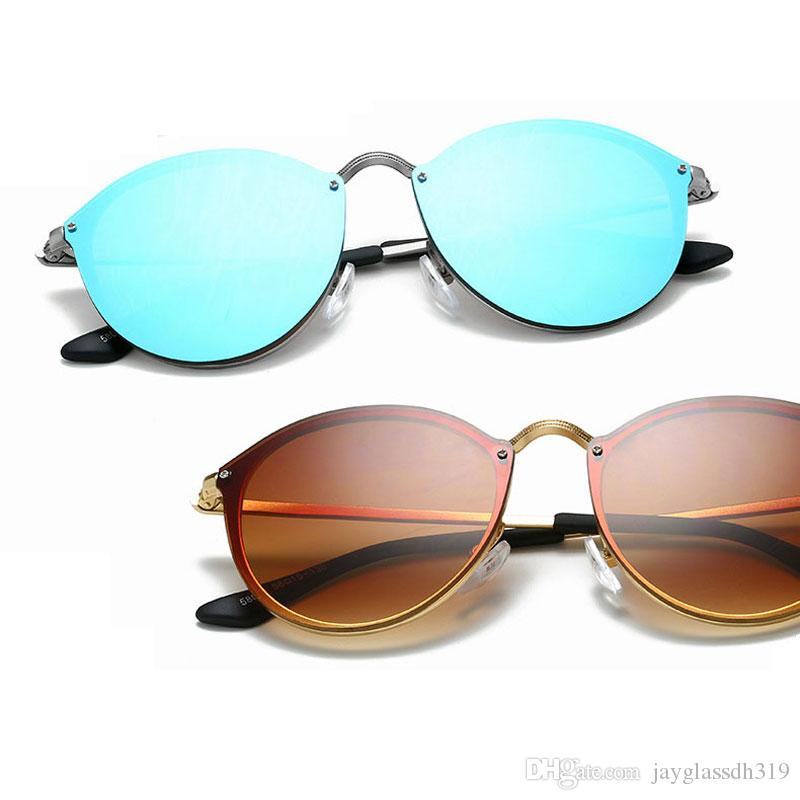 6614f9075a 2018 Fashion Rimless Sunglasses For Women Oval Metal Popular Round Eyewear  Accessory For Travel Round Female Sun Glasses Heart Shaped Sunglasses  Mirrored ...