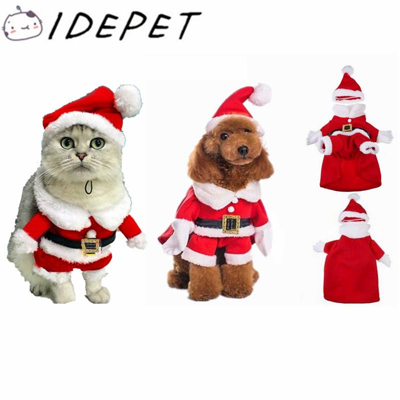 Christmas Cat Clothes Pet Dog Cat Costume Santa Claus Costume Winter Christmas  Pet Coat Apparel Cotton Clothes For Cat Dog 27S2 Cat Costumes Halloween  Women ... - Christmas Cat Clothes Pet Dog Cat Costume Santa Claus Costume Winter