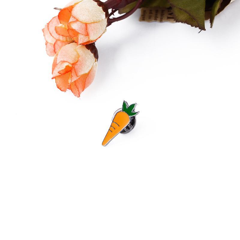 Прекрасные овощи морковь брошь эмаль Pin для женщин детские сумки Знак Моды кнопки булавки джинсовая куртка булавки ювелирные изделия