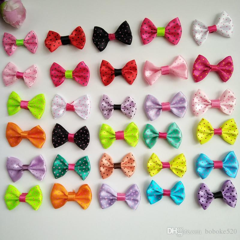 863619c48588 1.4 Handmade Small Dot Satins Bow Baby Kids Children Girls Barrettes ...