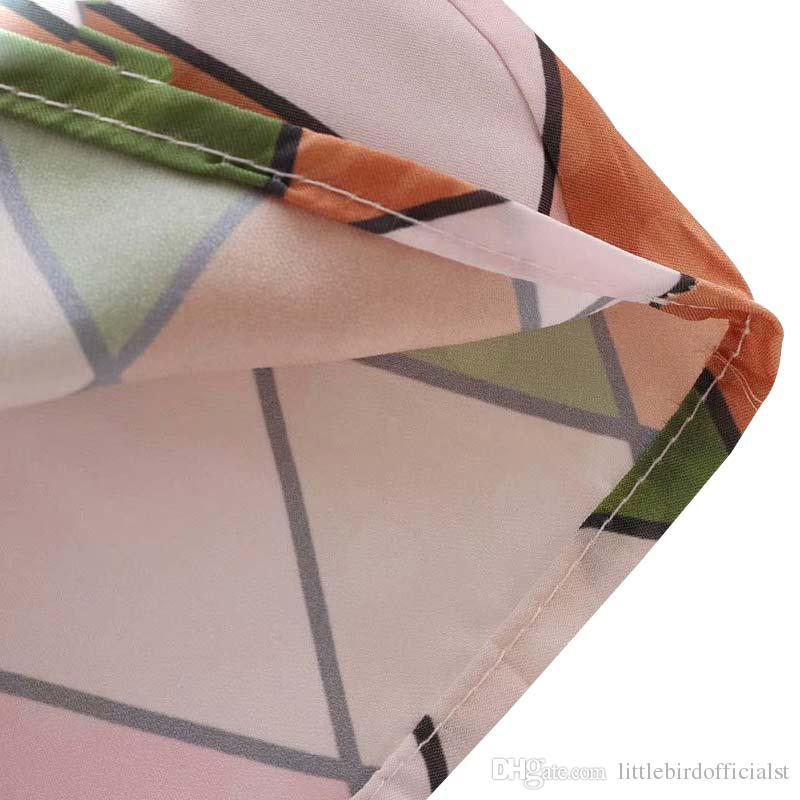 women elegant geometric print ruffled blouse ruffled collar long bell sleeve shirts female sweet summer tops blusas