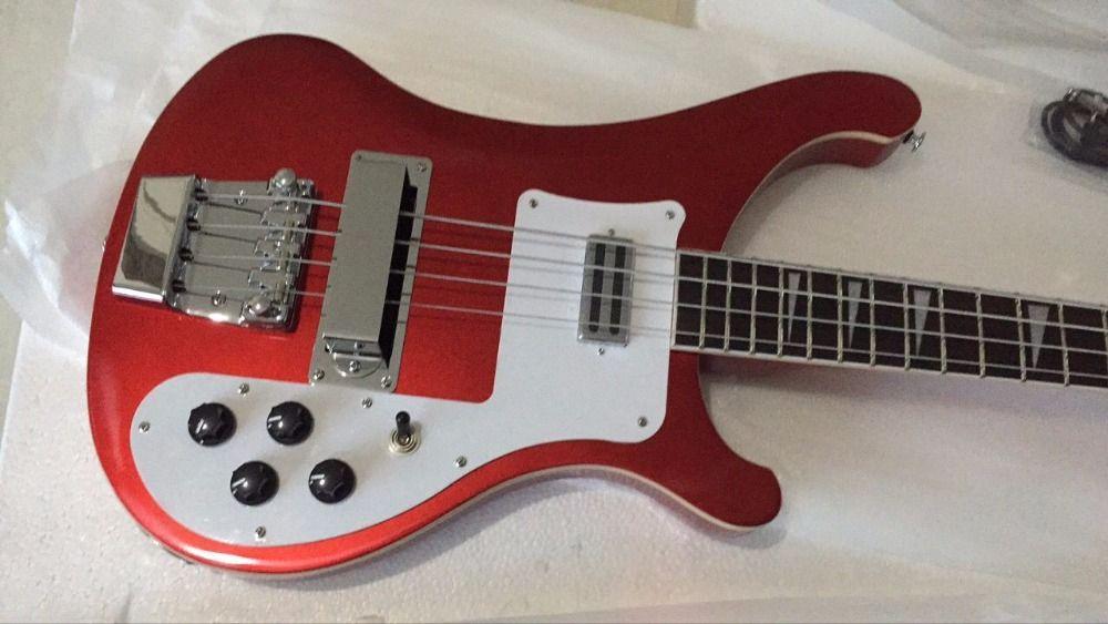 Toptan Yeni Rick. 4 dize 4003 elektrik bas gitar metal Kırmızı 170222