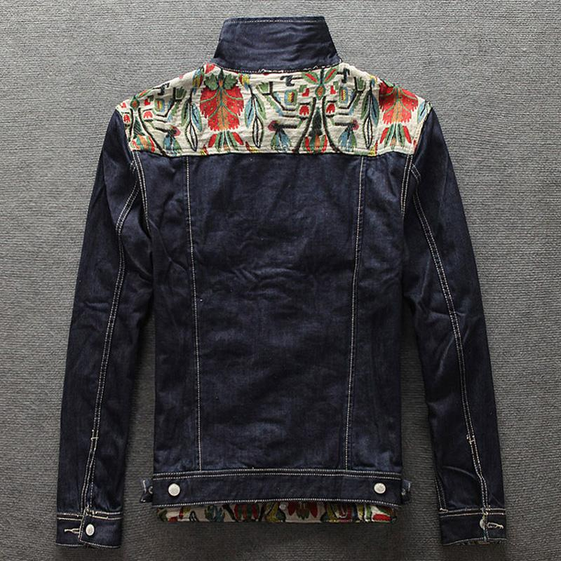 Européen Américain Street Fashion Hommes Veste Folk-Design Personnalisé Rétro Denim Veste Hommes Manteau Haute Qualité Slim Fit Jeunesse Vestes
