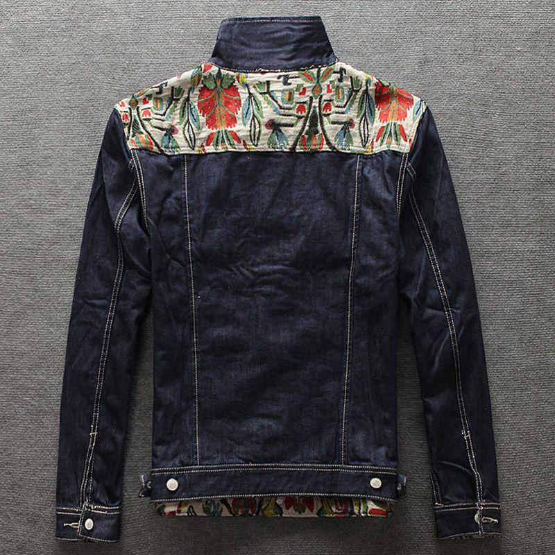 Europäische American Street Fashion Männer Jacke Folk-Custom Design Retro Jeansjacke Männer Mantel hohe Qualität Slim Fit Jugend Jacken