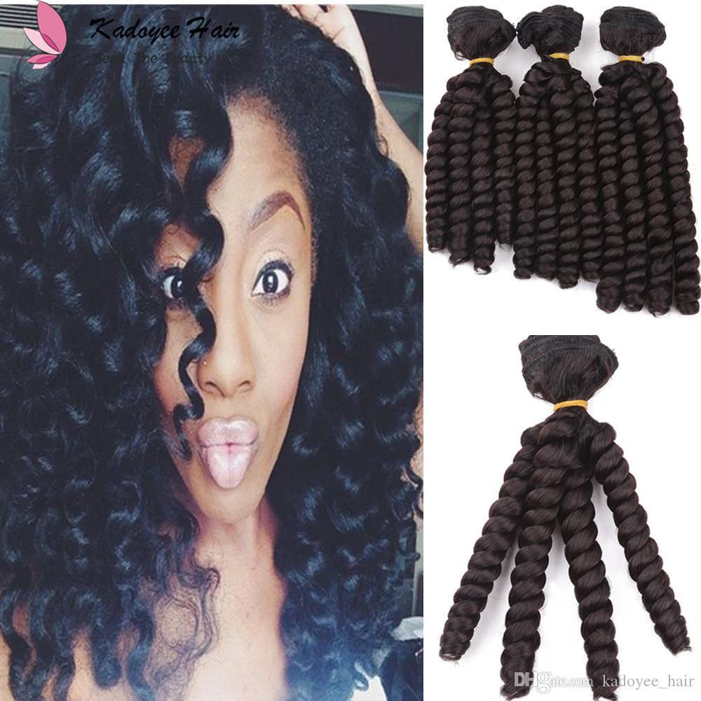 8 9 10 Inch /PACK Synthetic Bouncy Curly Hair Heat Resistant Funmi Fumi spring curl Weave Sew in Hair Extensions Bundles /pack
