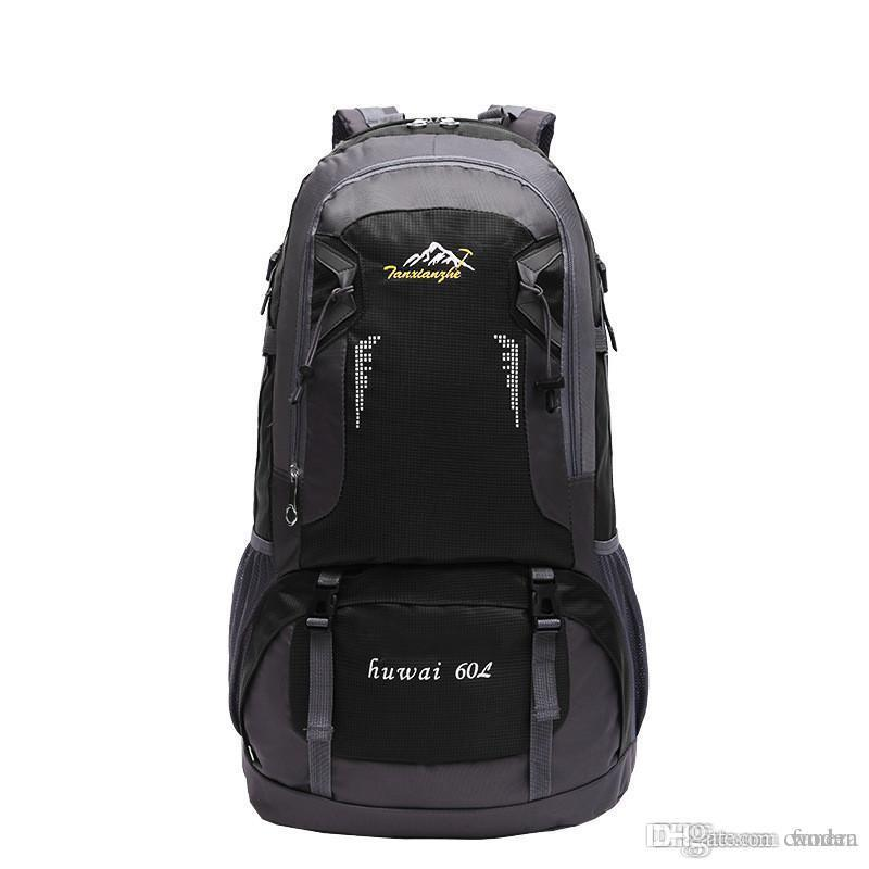 2018 Travel Backpack Waterproof Large Capacity Breathable Nylon Outdoor Mountaineering Bag Diamond Shaped Folding Backpack Camping & Hiking Sports & Entertainment