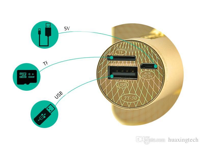 سماعات بلوتوث لاسلكية ذهبي مع ميكروفون للهواتف المحمولة