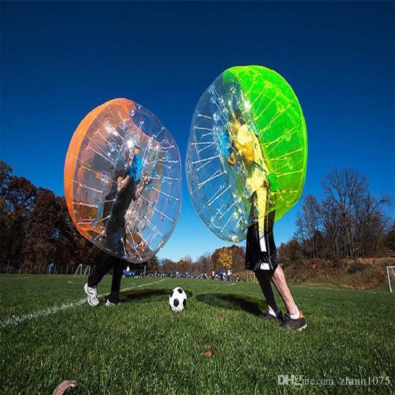 الوفير الكرة zorb ball نفخ لعب لعبة في الهواء الطلق Bubble Ball Football ، Bubble Soccer 1.2 M ، 1.5 M ، 1.8 M المواد البلاستيكية