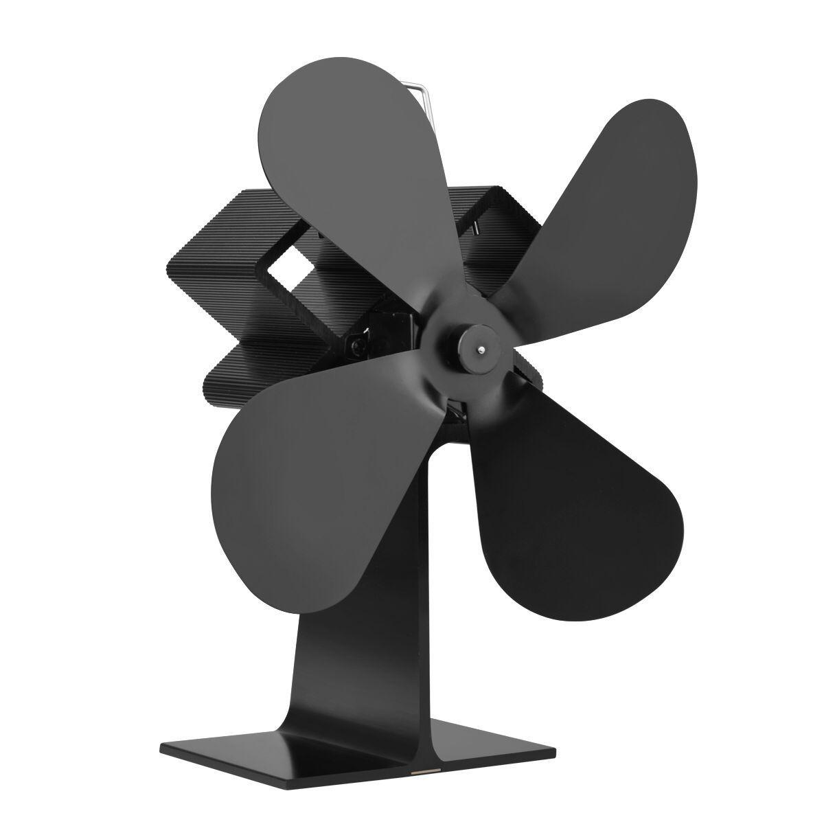 4 Blades Heat power wood stove Eco fan Home wood Burner Fireplace Blower  fuel coat saving