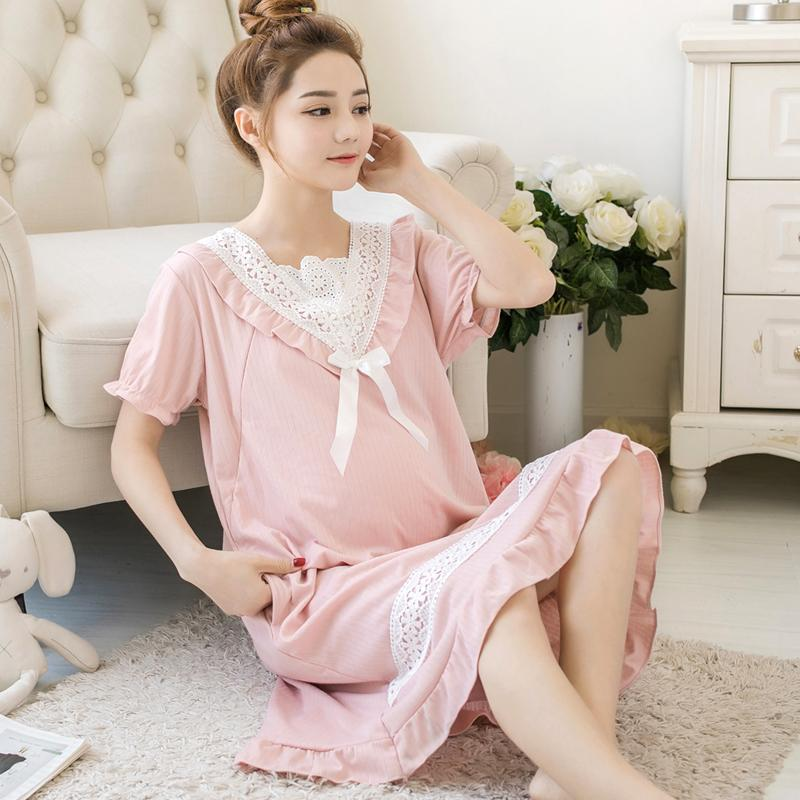 d33ed8e3646 2019 813  Summer Fashion Maternity Nursing Night Dress Sweet Nightgown For  Pregnant Women Pregnancy Breastfeeding Nightwear Sleepwear From Ferdimand