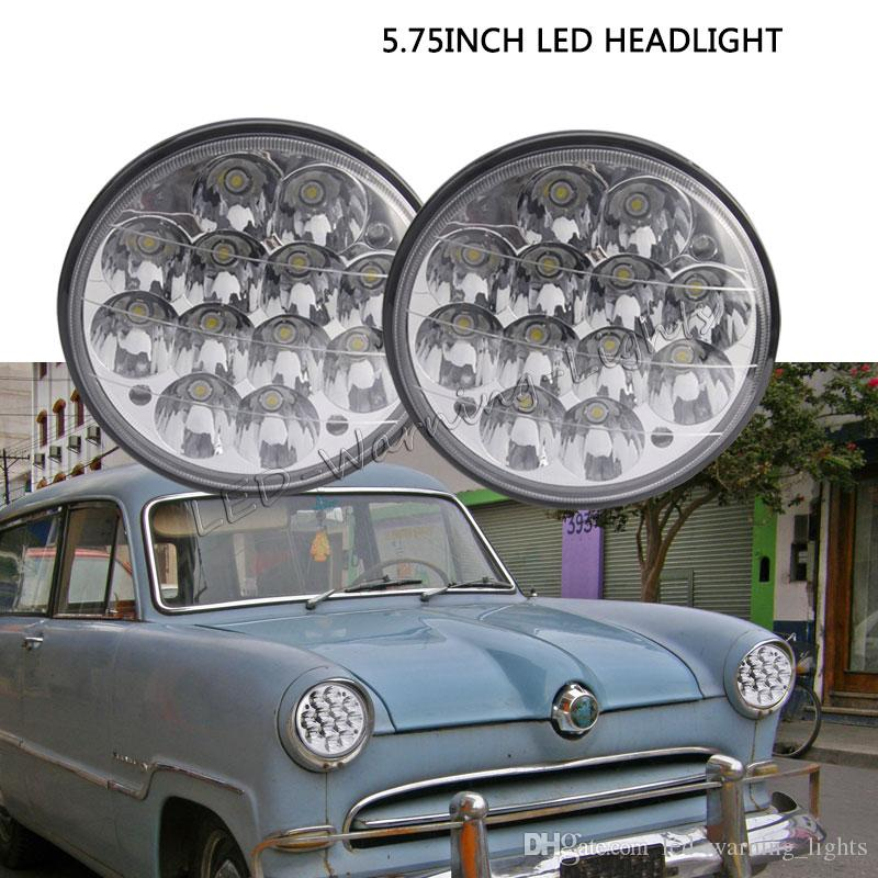 Pair 36w 5 75inch Round Led Headlight Replacement Applicate For