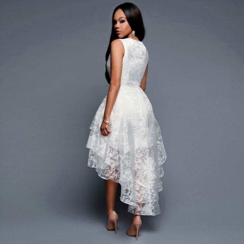 Belles Femmes Blanc Voile Robe Fille Élégante Dames Sans Manches Salut-lo Robes Trois Couches Big Swing Femmes Vestidos Vêtements