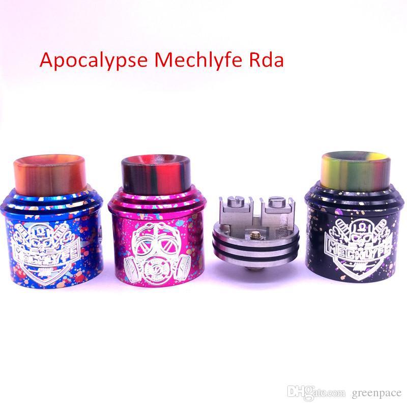Squonk bf rda Apocalypse Mechlyfe Rda Cotton Candy Nero Blu Rosa fondo alimentatore parte pin prezzo più basso DHL libero