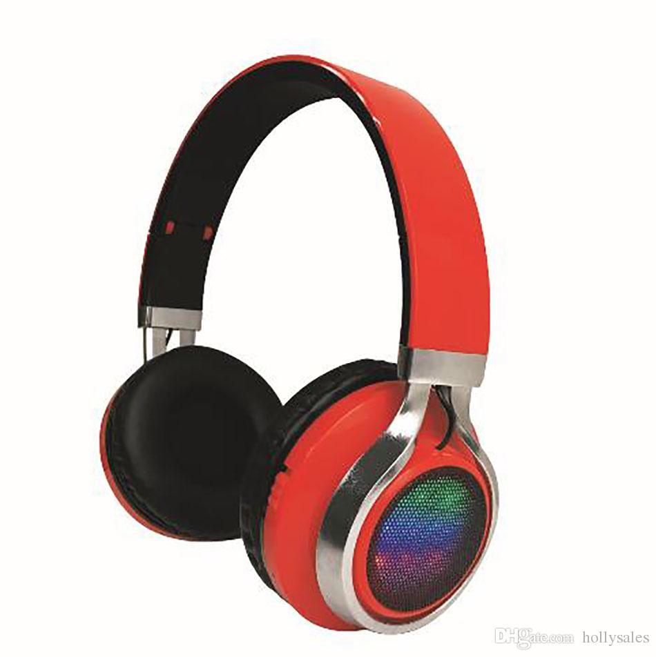 K8 Sports Stereo Bluetooth Bezprzewodowy Zestaw Słuchawkowy LED Miga Bluetooth Handfree Quality Music Gracz Gry Gry Gry Słuchawki Słuchawki z MIC