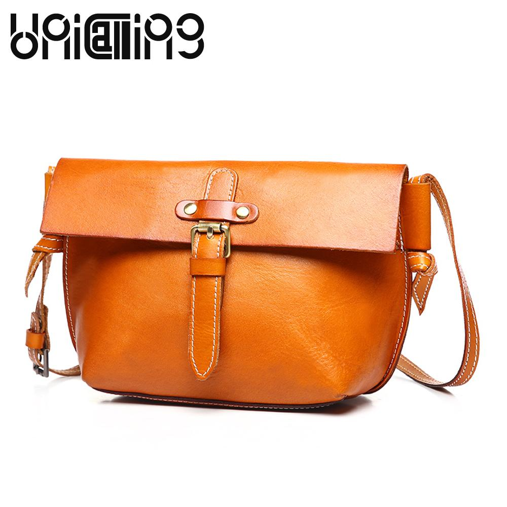 735907abc6b7 Fashion Enuine Leather Women Bag Top Grade Retro Shoulder Bags Vegetable  Tanned Cow Leather Small Women Messenger Bags Handbags Brands Cute Wallets  From ...