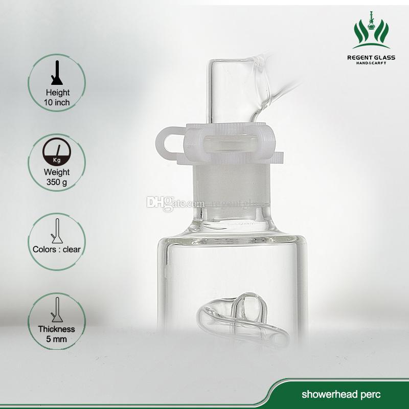 Nuovo arrivo Bong di vetro Assemblare tubi di vetro Tubo di acqua Grande Recycler con rimovibile Perc clip spedizione gratuita