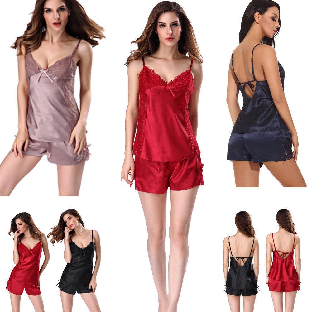 94d5fd4f642 2018 Women s Pajama Sets Sexy Lingerie Sleepwear Babydoll Exotic Nightwear  Underwear Sets Plus Size S-XXL Pajama Sets Cheap Pajama Sets 2018 Women s  Pajama ...