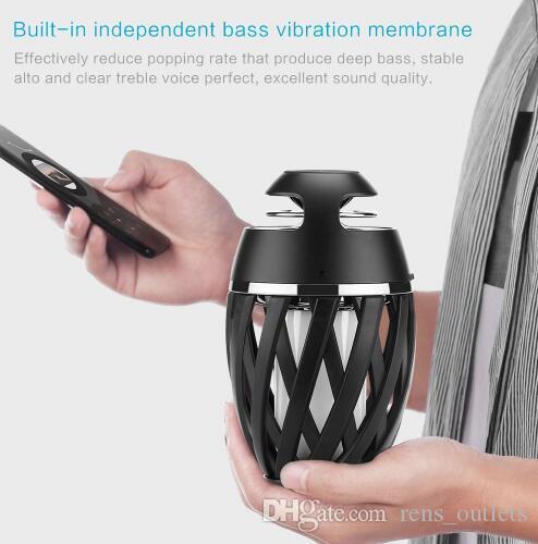 Bluetooth BT беспроводной динамик LED пламя огонь атмосфера мягкий свет танцы мерцание Факел открытый лампа с превосходной бас звук