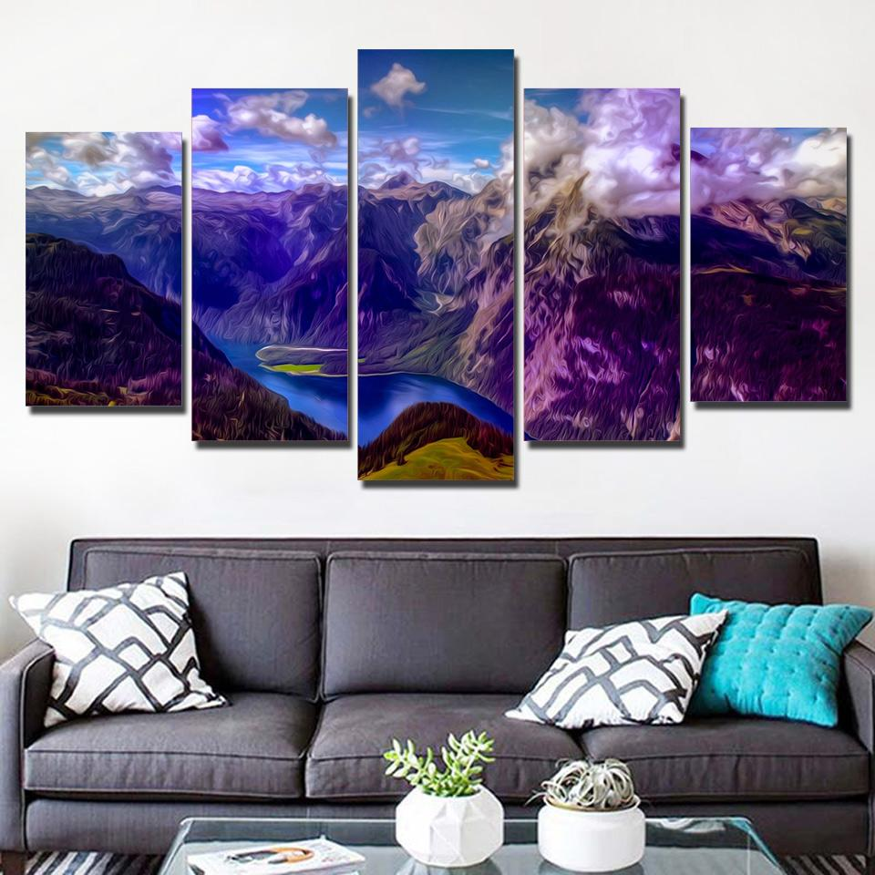HD Printed Canvas Art Canyon Scenery Modern Canvas Prints Wall Pictures for Living Room NY-7487B