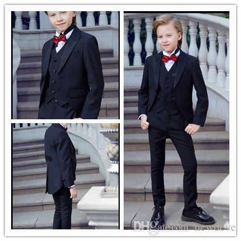 a980bd563 2018 Tuxedo Design Boy Polyester Wear With Bead Children Wedding ...