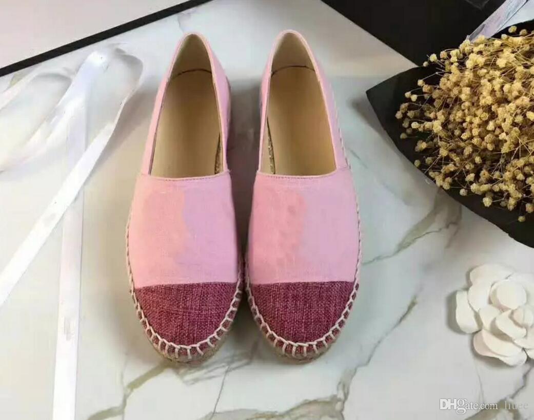 2edd0e26 Zapatos planos sin cordones marca de lujo de verano para mujer zapatos  casuales Zapatos casuales de cuero real de alta calidad Con tamaño de caja  ...