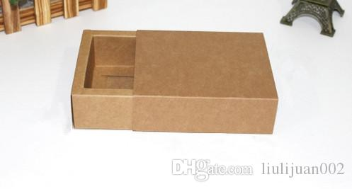 Factory outlets drawer kraft paper boxes Black card gift Packing boxes Printable logo accessories boxes Inner diameter dimension 9 * 6 * 4C