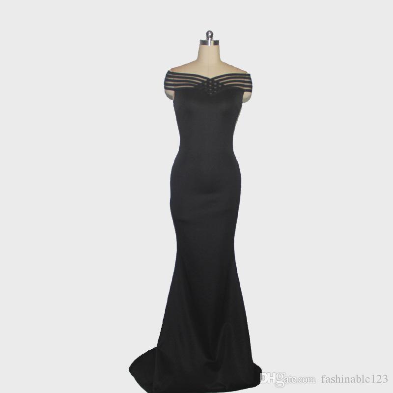 2018 лето горячей продажи Слэш шеи панелями русалка длиной до пола макси длинный банкет тонкий платье