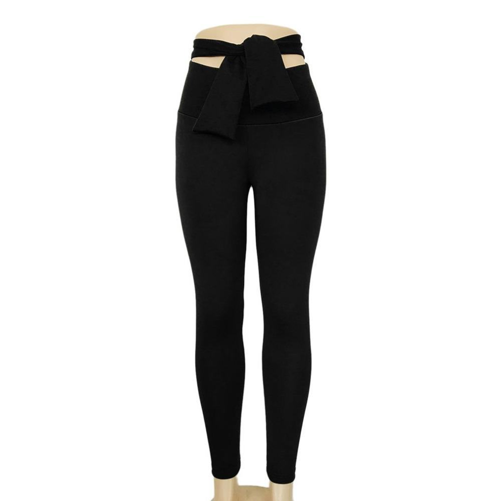 ee2eadcd61 2019 Women Sports Pants High Waist Fashion Yoga Fitness Leggings With  Bowknot Gym Wear Stretch Trousers Lift Hips Running Pants From Masn, $33.94  | DHgate.