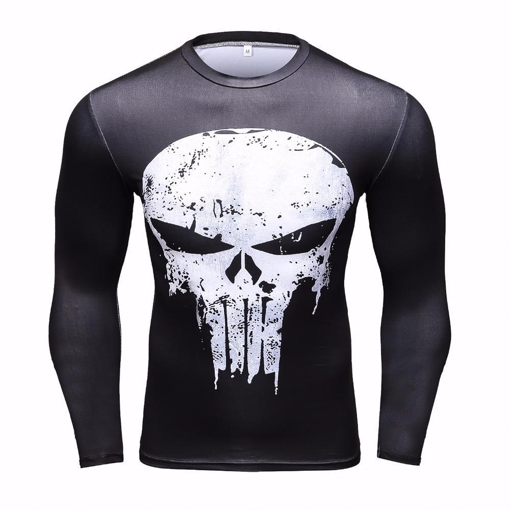 À Acheter Imprimé Manches Compression Chemises 3d Hommes T Shirts De wZqw8SrW