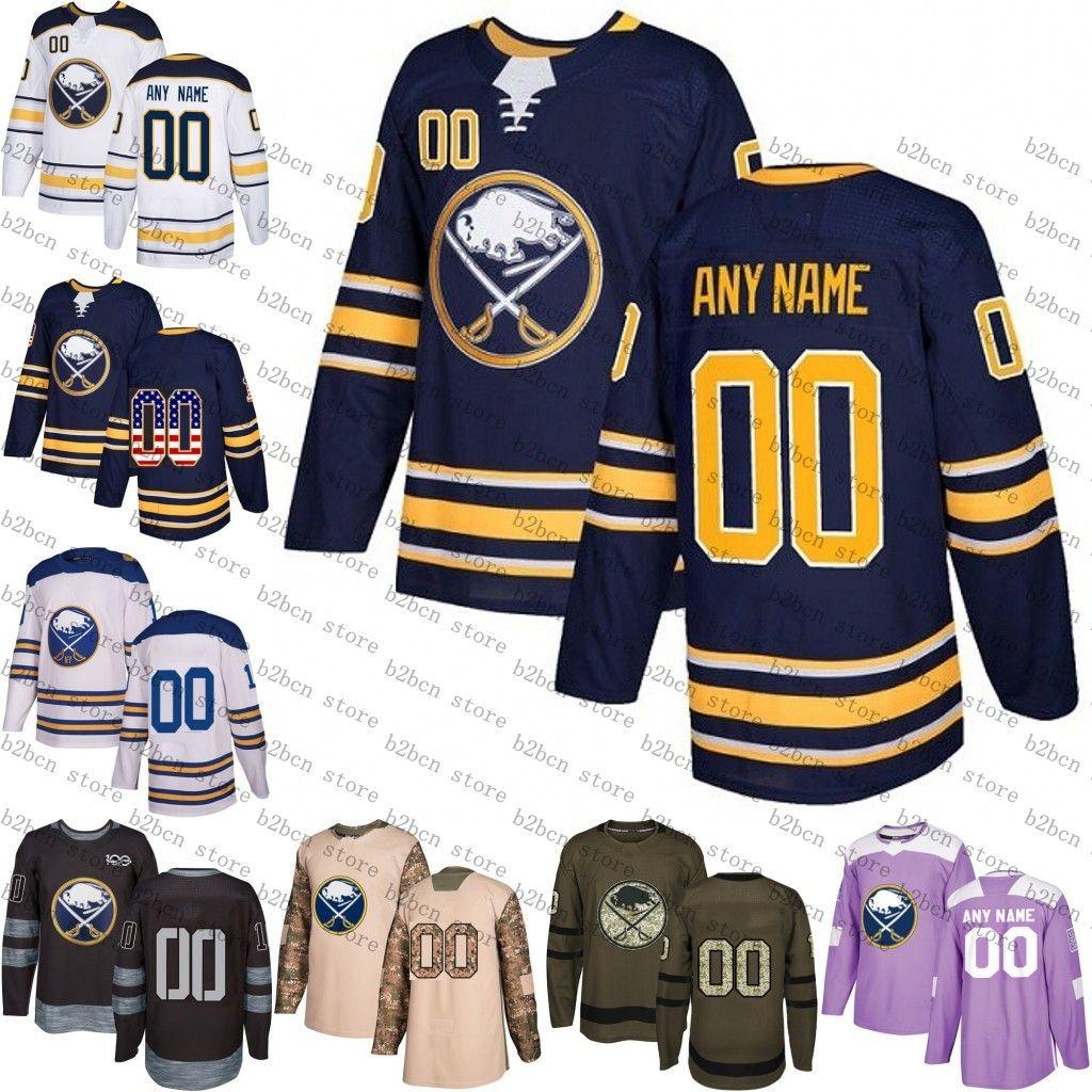 buy popular 56c44 30455 Custom Buffalo Sabres men women youth 26 Rasmus Dahlin 9 Jack Eichel  Customized Royal Blue navy White green purple Hockey Jersey Stitched