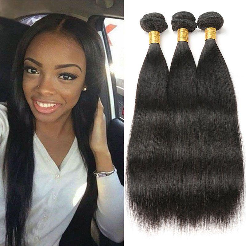 Malaysian Straight Hair 100 Human Hair Bundles Non Remy Hair