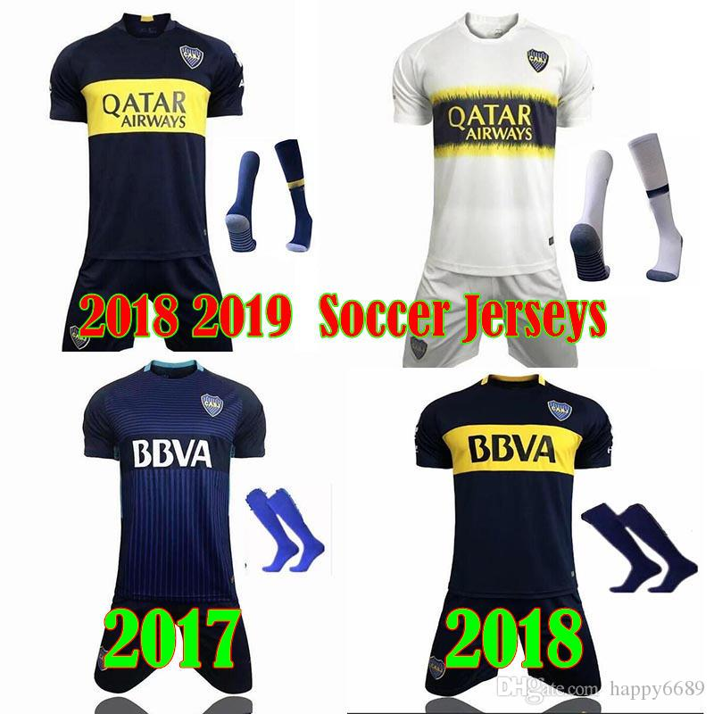 67bf6dbe4 2017 2018 BEST QUALITY Men Kits Boca Juniors Jersey Home Away 2018 2019  Boca Juniors GAGO OSVALDO CARLITOS PEREZ P Shirt UK 2019 From Happy6689