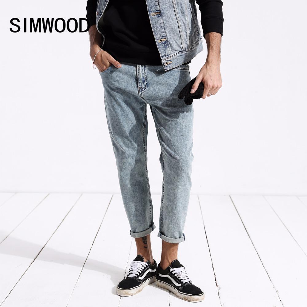 4f72f42b577d8 SIMWOOD Neue Ankunft 2018 Herbst Marke Jeans Männer Mode Knöchellangen  Denim Hosen Männlichen Slim Fit Jeans Plus Größe 180346
