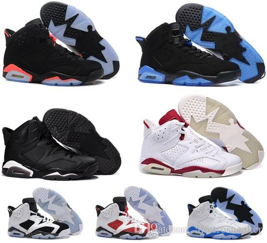 the best attitude 98486 b3654 Cheap Jumpman 6 6s Mens Basketball Shoes Unc Black Cat Infrared Sports Blue  0Maroon Olympic Alternate Hare Oreo Angry Bull Sports Sneakers Mens  Basketball ...