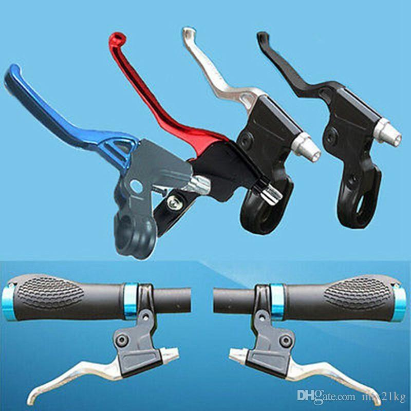 Lightweight Bike Brake Lever Aluminu Handle Mountain MTB Road Bike Bicycle Cycling Brake Levers 2 Finger Black Red Blue Silver