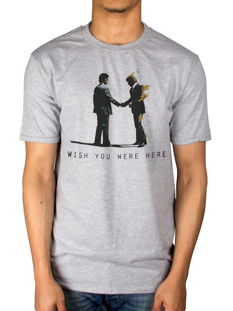 b9464af0968c Official Pink Floyd Wish You Were Here T Shirt Animals Endless River Dark  Side 2017 New Leisure Fashion T Shirt Men Cotton Short Sleeves Top T Shirt  Sites ...