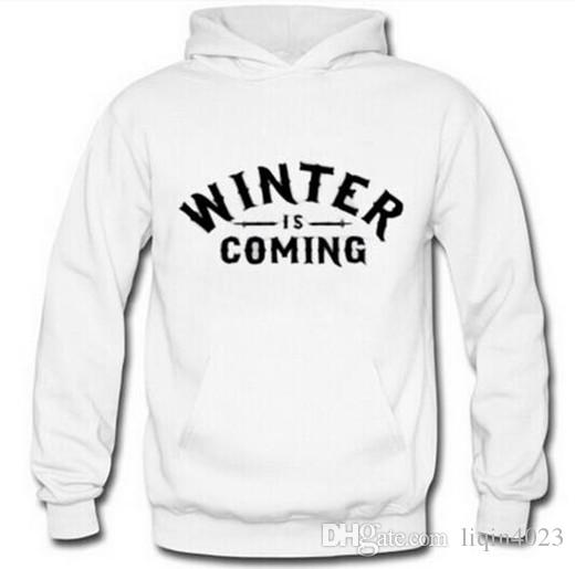 New Design Game of Thrones Hoodies Men Full Sleeve Pullovers Fashion Winter is Coming Printed Male Sweatshirts Fans Clothes