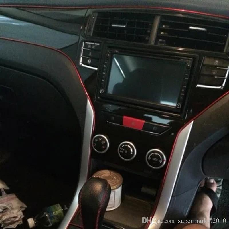 5Meter 1Roll 자동차 액세서리 스티커 자동차 인테리어 크롬 트림 유연한 인테리어 몰딩 장식 스트립 트림 라인 자동차 문
