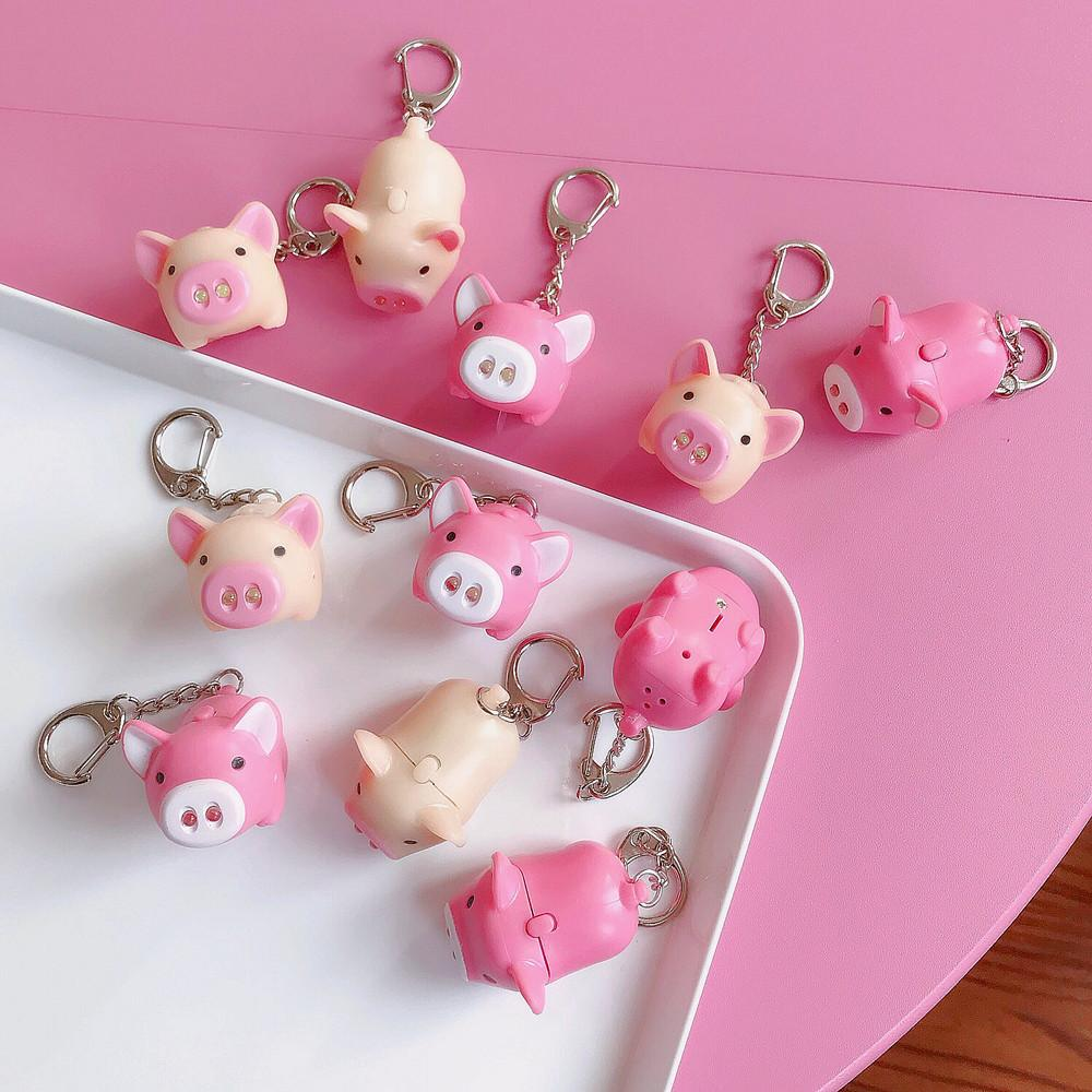 Cartoon Animal Keychain Plastic Keyring Creative Illuminate Voice Pink Pig  Key Chain Bag Pendant Phone Hanging Ornament Q674 Designer Keychains Key  Chain ... 132ed9a089aa