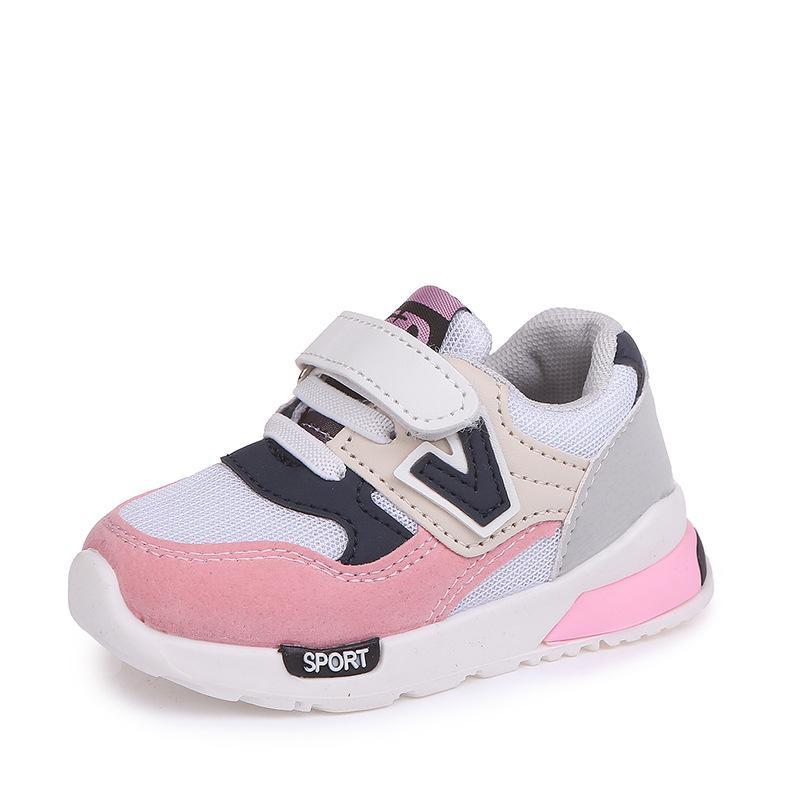 Kinder Schuhe für Baby Jungen Mädchen Kinder Casual Turnschuhe Air Mesh Atmungsaktive Soft Laufschuhe Sportschuhe Rosa Grau