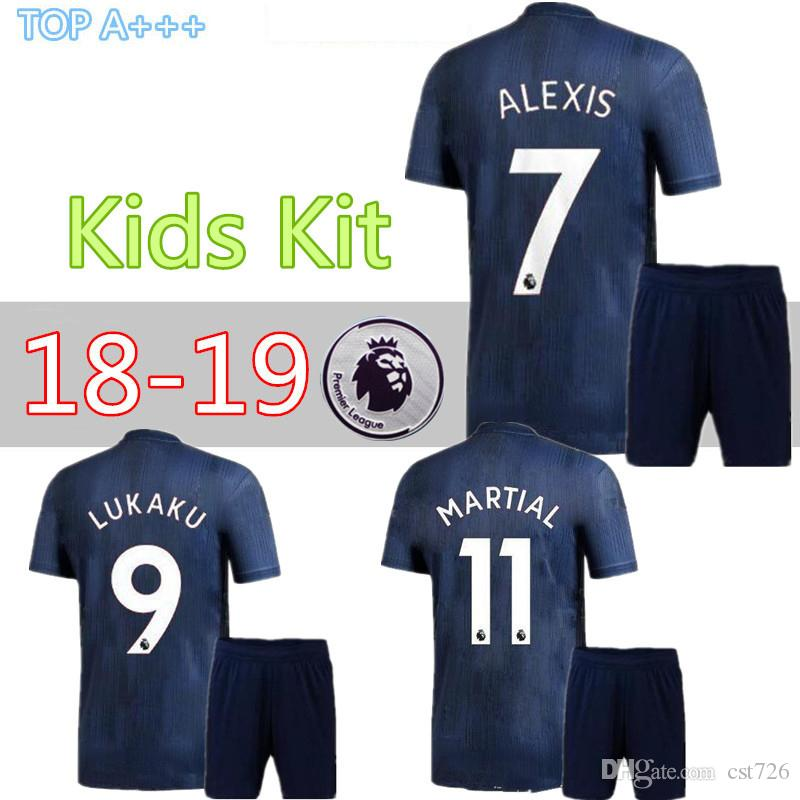 2e9cde645 MAN UTD ALEXIS UTD IBRAHIMOVIC LUKAKU Child Kids Kit Soccer Jerseys ...