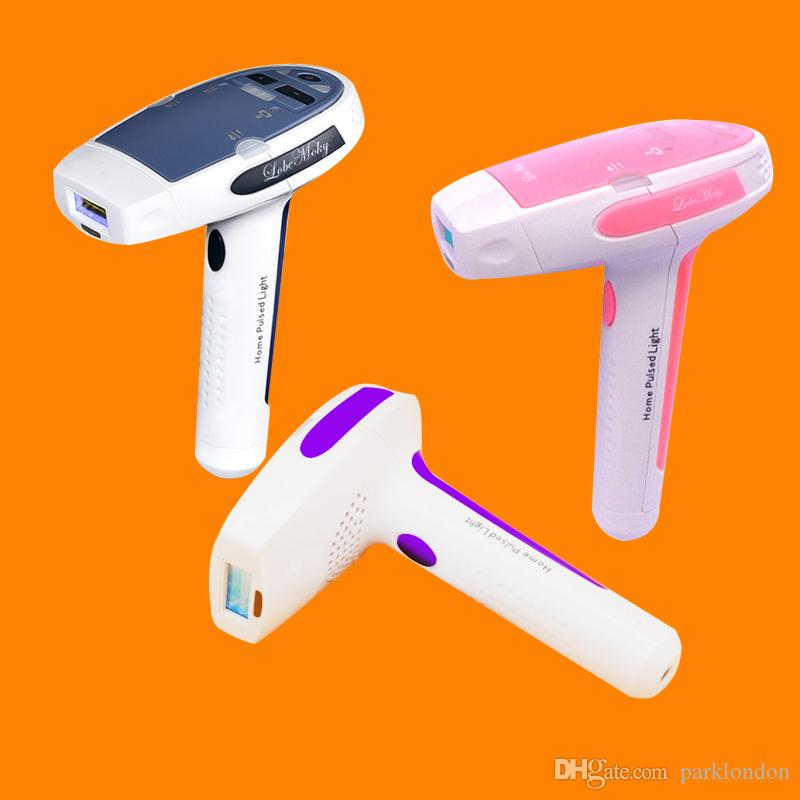 آلة إزالة الشعر بالليزر HR001 MOQ 1 ذات الاستخدام المنزلي تأتي مع اثنين من IPL Elpilator لتجديد شباب الجلد