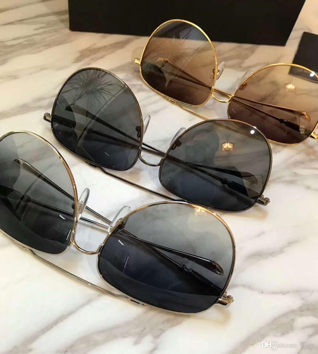 Mens Gold PILOT Gafas de sol Gold Frame Marrón Gradiend Lens Fashion Brand Sunglass Nuevo con caja
