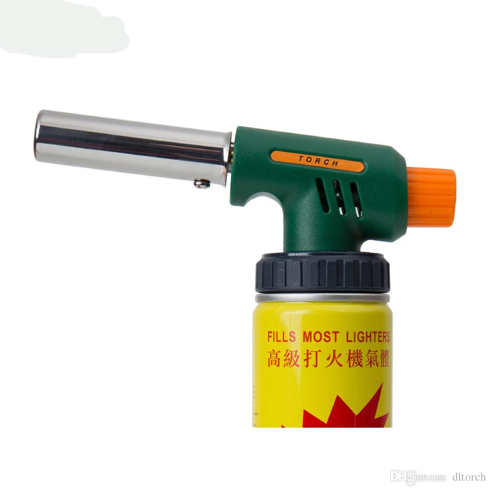 DL 7219H High powered temperature cheap Refillable barbecue butane jet  flame torch lighter Handy Ignitor Welding Gas Torch